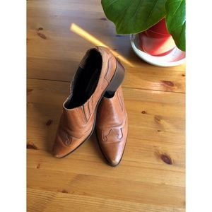 Vintage Brazilian Leather Ankle Boot